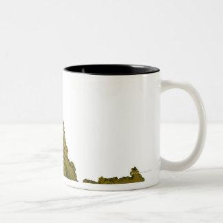 Map of Idaho 2 Two-Tone Coffee Mug