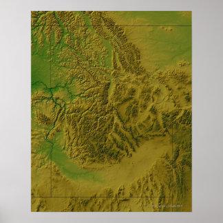 Map of Idaho Poster
