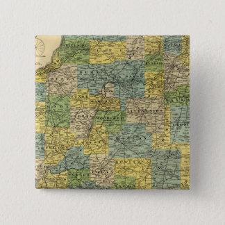 Map of Illinois 2 15 Cm Square Badge