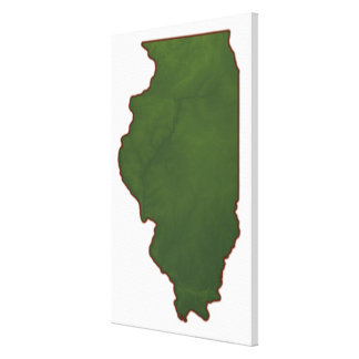 Map of Illinois 2 Canvas Print