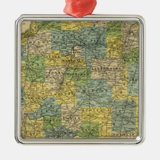 Map of Illinois 2 Christmas Ornament