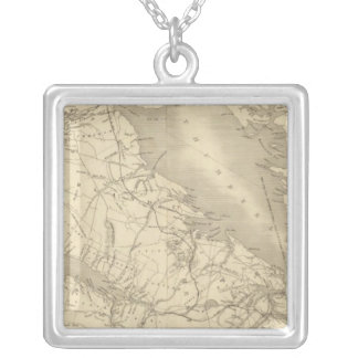 Map of Illinois 2 Silver Plated Necklace
