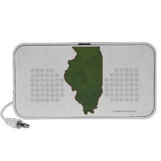 Map of Illinois 2 Mp3 Speakers