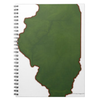 Map of Illinois 2 Spiral Notebooks