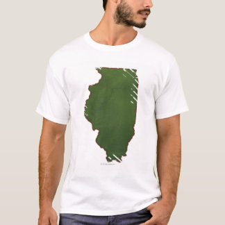 Map of Illinois 2 T-Shirt