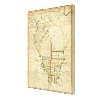 Map of Illinois Canvas Print
