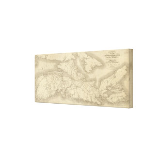 Map of Illinois Canvas Print