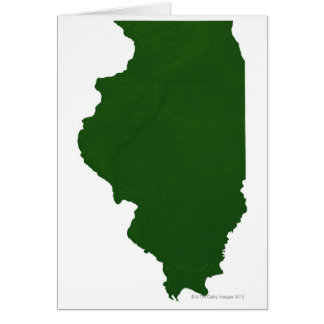 Map of Illinois Card