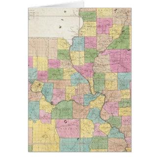 Map of Illinois & Missouri Card