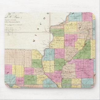 Map of Illinois & Missouri Mouse Mat