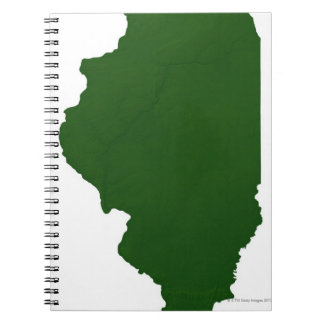 Map of Illinois Notebooks