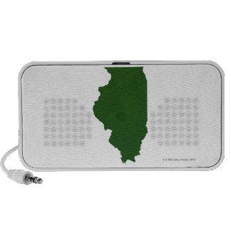 Map of Illinois iPod Speaker