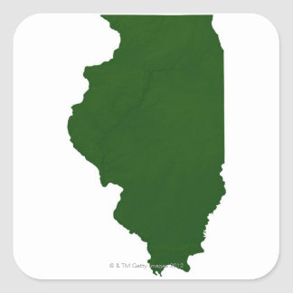 Map of Illinois Stickers