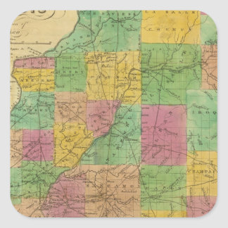 Map of Illinois Sticker