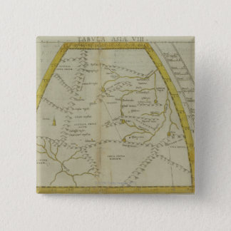 Map of India and Central Asia 15 Cm Square Badge