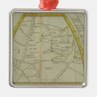 Map of India and Central Asia Christmas Ornament