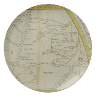 Map of India and Central Asia Dinner Plates