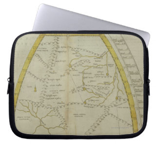 Map of India and Central Asia Laptop Sleeve