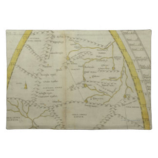 Map of India and Central Asia Placemats