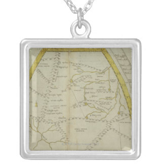 Map of India and Central Asia Silver Plated Necklace