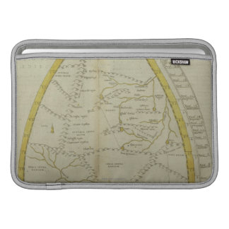 Map of India and Central Asia Sleeve For MacBook Air