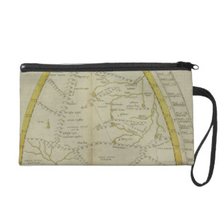 Map of India and Central Asia Wristlet
