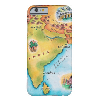 Map of India Barely There iPhone 6 Case