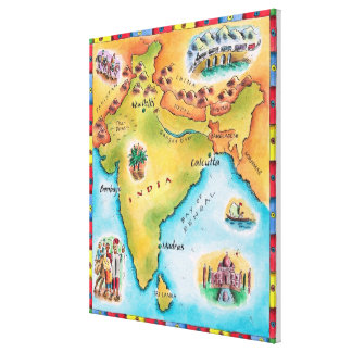 Map of India Canvas Print