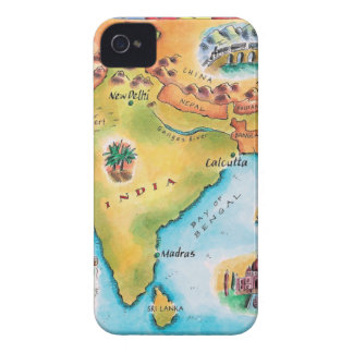 Map of India iPhone 4 Case-Mate Case
