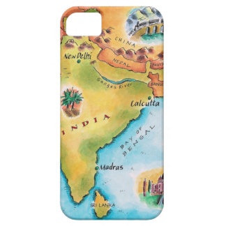 Map of India iPhone 5 Cases