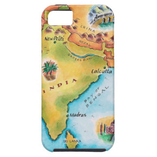 Map of India iPhone 5 Covers