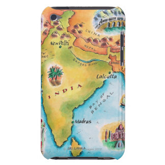 Map of India iPod Touch Case-Mate Case