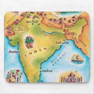 Map of India Mouse Mat