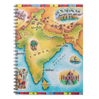 Map of India Notebook