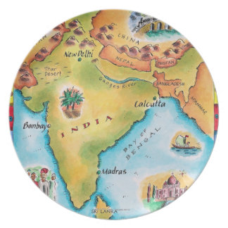 Map of India Plate