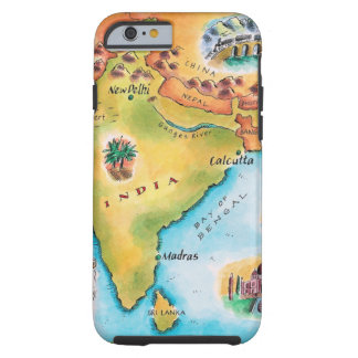 Map of India Tough iPhone 6 Case