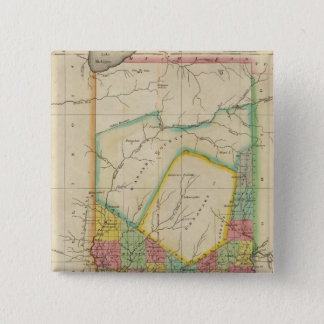 Map Of Indiana 15 Cm Square Badge