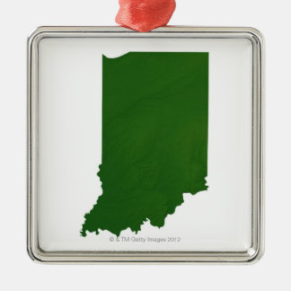 Map of Indiana 2 Christmas Ornament