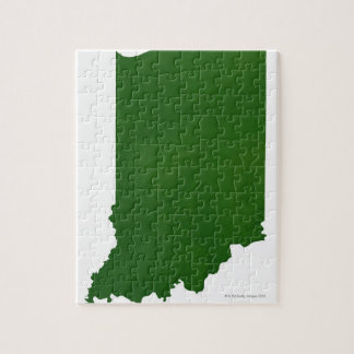 Map of Indiana 2 Jigsaw Puzzle
