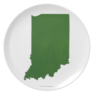 Map of Indiana 2 Plate