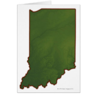 Map of Indiana 3 Card