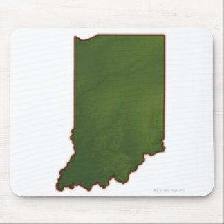 Map of Indiana 3 Mouse Mat