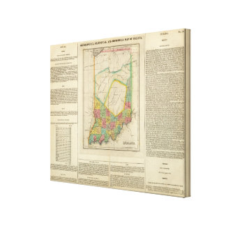 Map Of Indiana Canvas Print