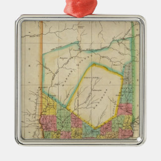 Map Of Indiana Christmas Ornament