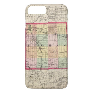 Map of Ingham County, Michigan iPhone 8 Plus/7 Plus Case