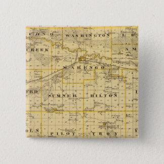 Map of Iowa County, State of Iowa 15 Cm Square Badge