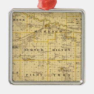 Map of Iowa County, State of Iowa Christmas Ornament