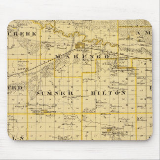 Map of Iowa County, State of Iowa Mouse Mat