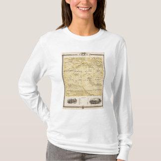 Map of Iowa County, State of Iowa T-Shirt