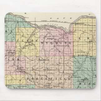 Map of Iowa County, State of Wisconsin Mouse Mat